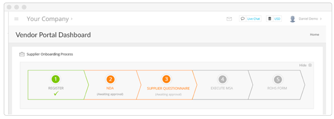 Automate Vendor Onboarding & Self-Registration