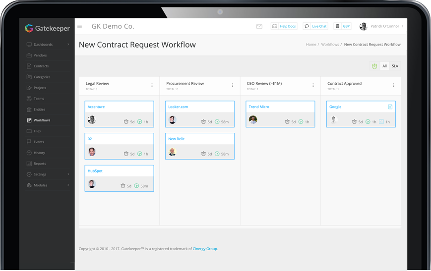 Unique workflow engine designed to visualise all your company processes