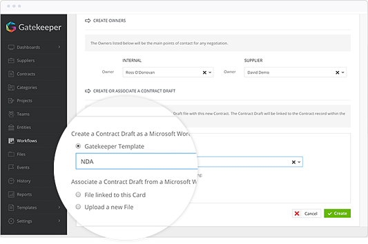 Use Unlimited Templates from Gatekeeper to improve contract drafting