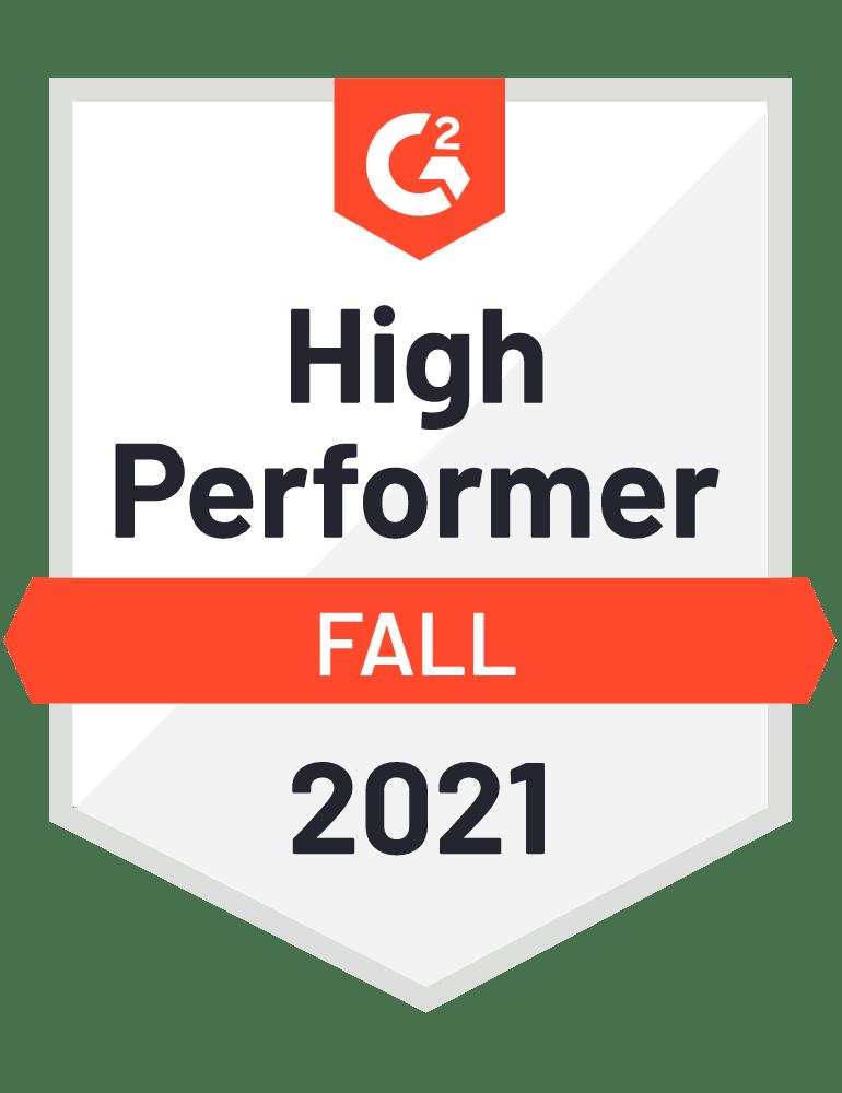 High Performer G2 Fall 2021